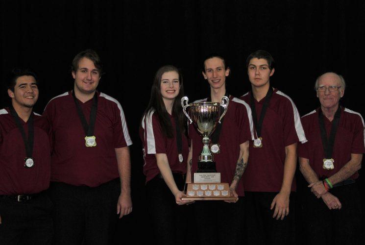 2017 Youth Bowl Ontario Cup Winners: Orleans Bowling Centre, Ottawa (Spencer Murray, Megan Verbeek, Gabriel Croteau, Austin Laprade, Nathan Gadde, Coach: Barry MacAdam)