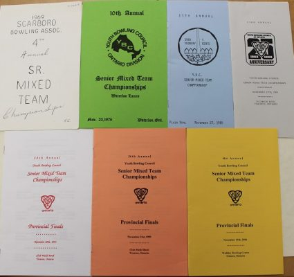 Program books from the 1969, 75, 80, 88, 93, 99 and 2006 tournaments (Click to enlarge)